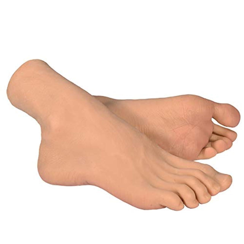 くつろぐ大臣見物人スケッチネイルアートの練習ジュエリー靴ソックス表示(ペア)としてシリコーン女性の足のライフサイズマネキン