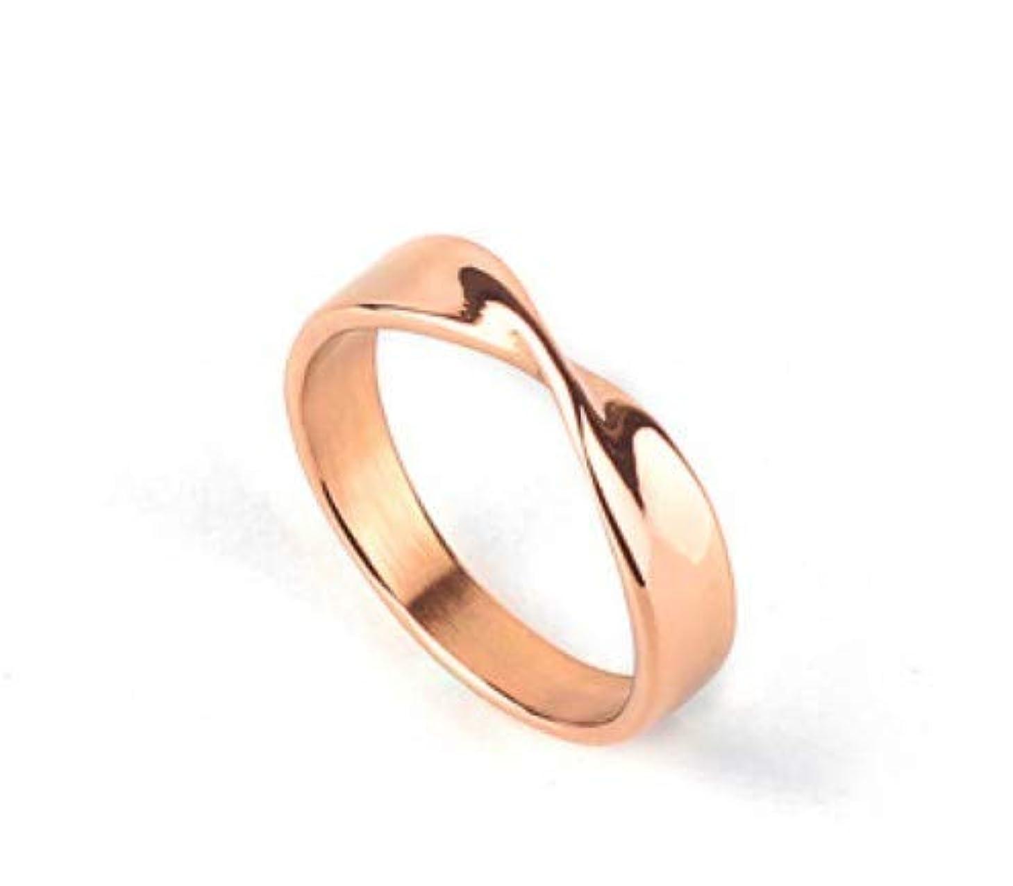 未亡人提案呼ぶ男性と女性の銅の指輪、レトロチタン鋼の指輪、シンプルな幾何学的なカップルパーソナライズされたリングギフト (Color : ゴールド, Design : 8#)