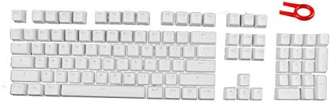 104 PBT Double Shot Backlit Keycaps for Mechanical Gaming Keyboard (Compatible Cherry MX Switches) - OEM Profile (White)