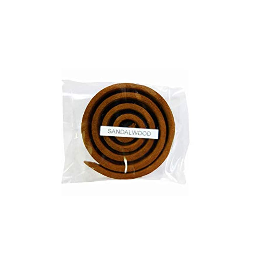 甘やかすクリープ収容するお香/うずまき香 SANDALWOOD サンダルウッド 直径5cm×5巻セット [並行輸入品]