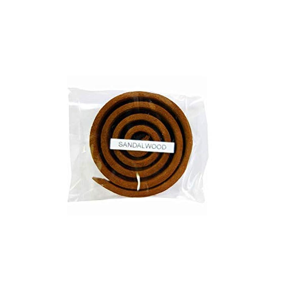 永久にいいね昇るお香/うずまき香 SANDALWOOD サンダルウッド 直径5cm×5巻セット [並行輸入品]