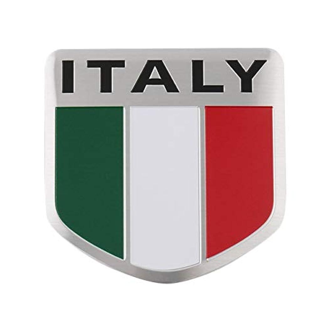 デモンストレーションリップ眠り新しいイタリア国旗の柄シールド形状ステッカーデカールカーウィンドウドア
