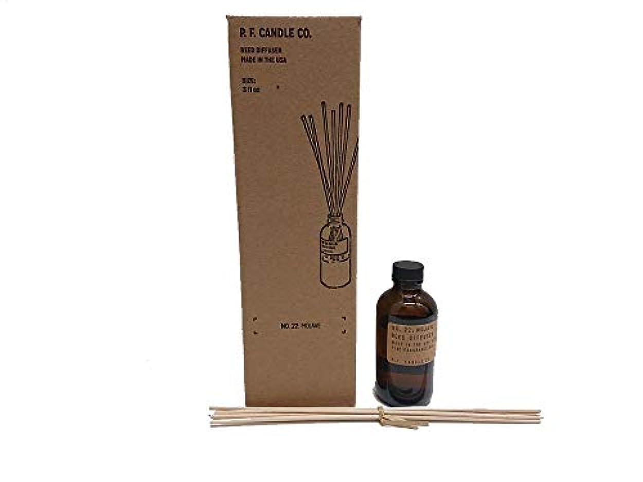 トレイル私たち思い出させるPFキャンドル(pf candle)ディフューザー 10種類 (TEAKWOOD&TOBACCO(チークウッド&タバコ), 3.0oz 容器サイズ:H11cm/φ5cm)