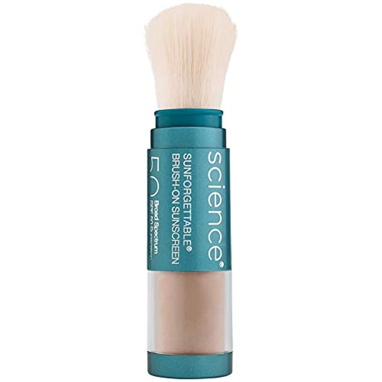 円形あそこ年次Sunforgettable Brush-On Sunscreen SPF 50 - Tan