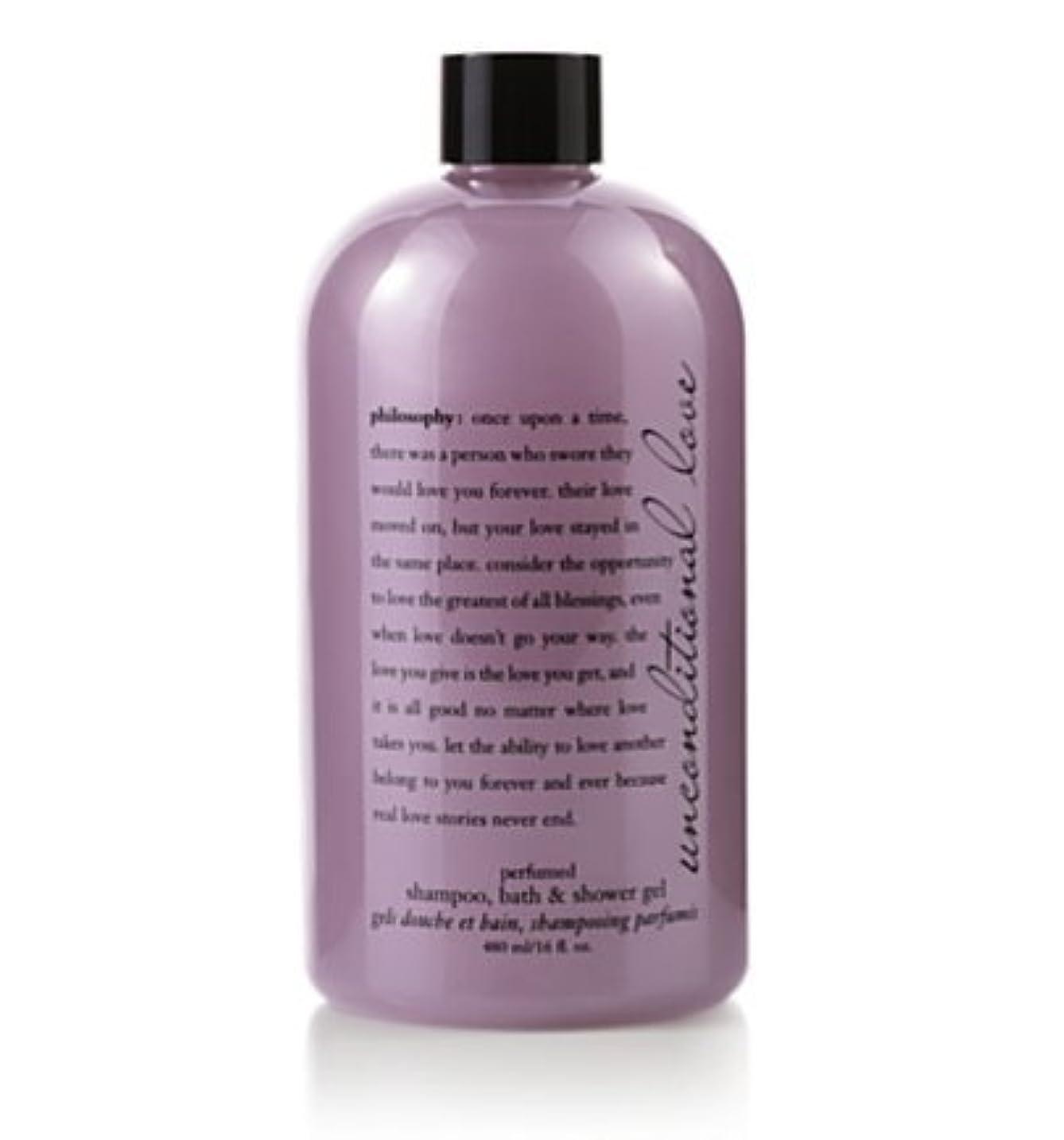 珍しい盟主小さなunconditional love (アンコンディショナルラブ ) 16.0 oz (480ml) perfumed shampoo, bath & shower gel for Women