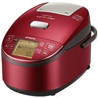 日立 圧力スチームIHジャー炊飯器(5.5合炊き) メタリックレッドHITACHI 圧力スチーム炊き ふっくら御膳 RZ-BV100M-R
