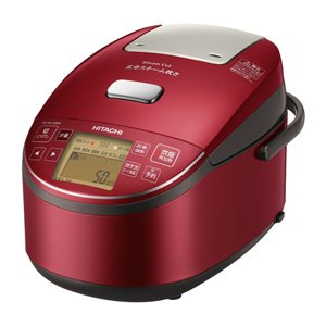 日立 圧力スチームIHジャー炊飯器(1升炊き) メタリックレッドHITACHI 圧力スチーム炊き ふっくら御膳 RZ-BV180M-R