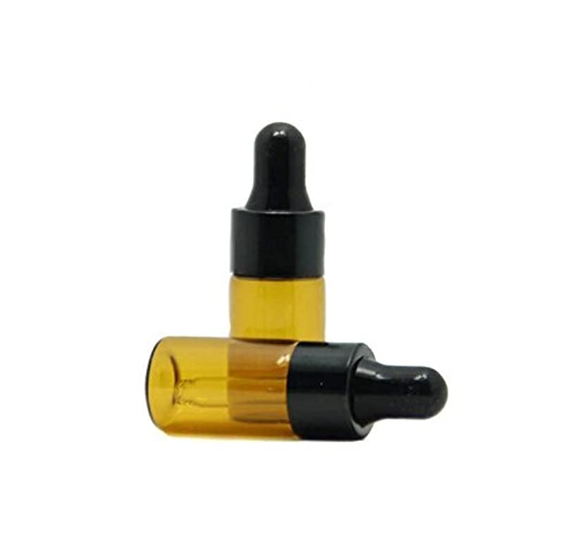 作者格納右3ml 15 Pcs Refillable Mini Amber Glass Essential Oil Bottles Dropper Bottles Vials With Eyed Dropper For Aromatherapy Eye Dropper Cosmetics (black cap) [並行輸入品]