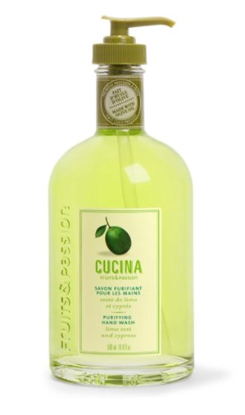乗算歯科の笑いCucina Purifying Hand Soap, Glass Dispenser Lime Zest 16.9 oz. by Cucina