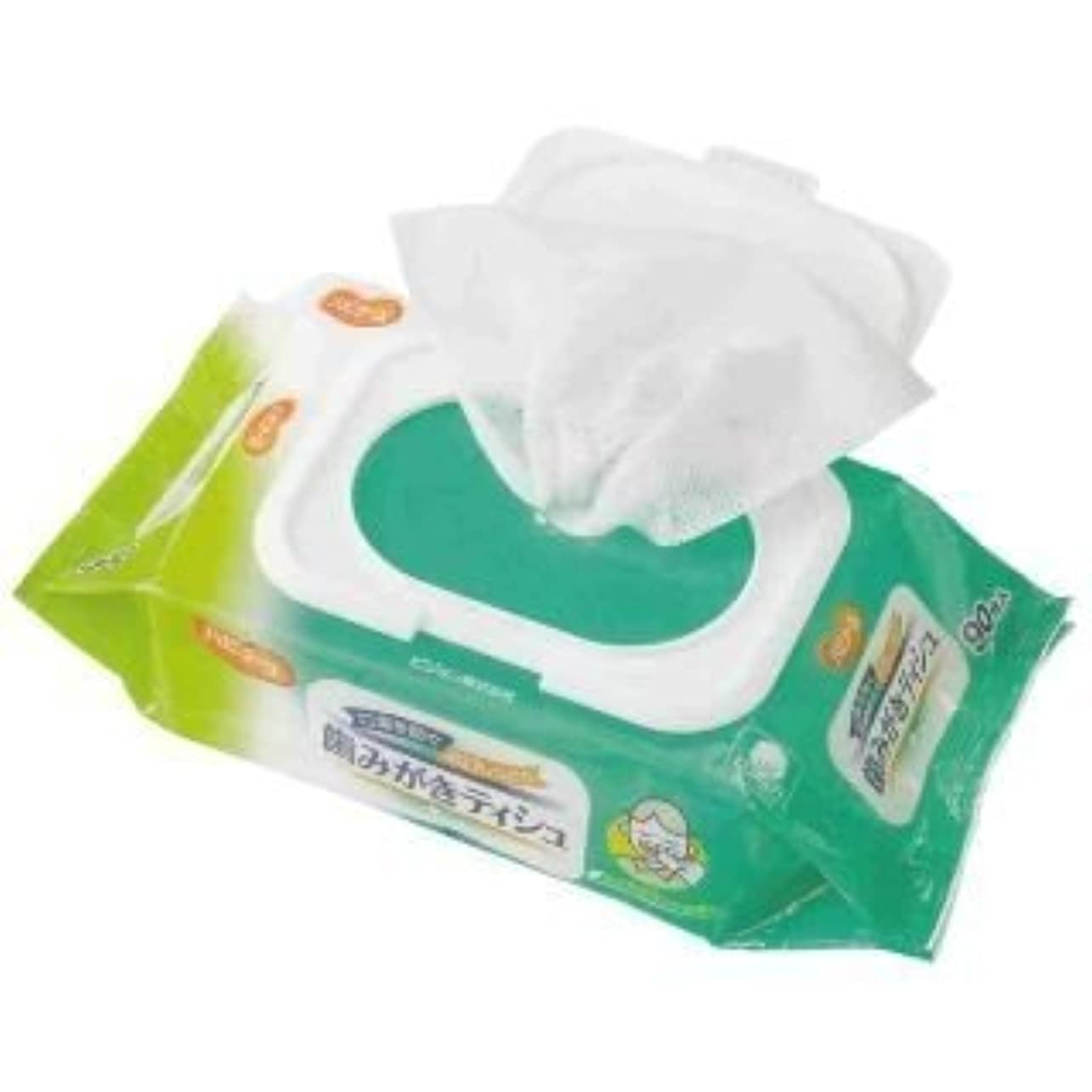 散歩に行くマングル安全な口臭を防ぐ&お口しっとり!ふきとりやすいコットンメッシュシート!お口が乾燥して、お口の臭いが気になるときに!歯みがきティシュ 90枚入