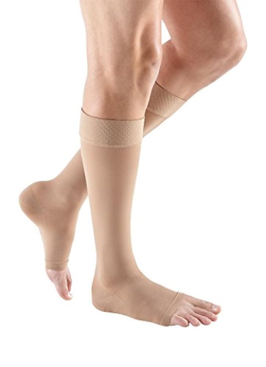 適格香港惑星Mediven Plus, Knee-High, Extra Wide With Top Band, Petite, 20-30mmHg, Open Toe, Compression Stocking, Beige, VII by Medius
