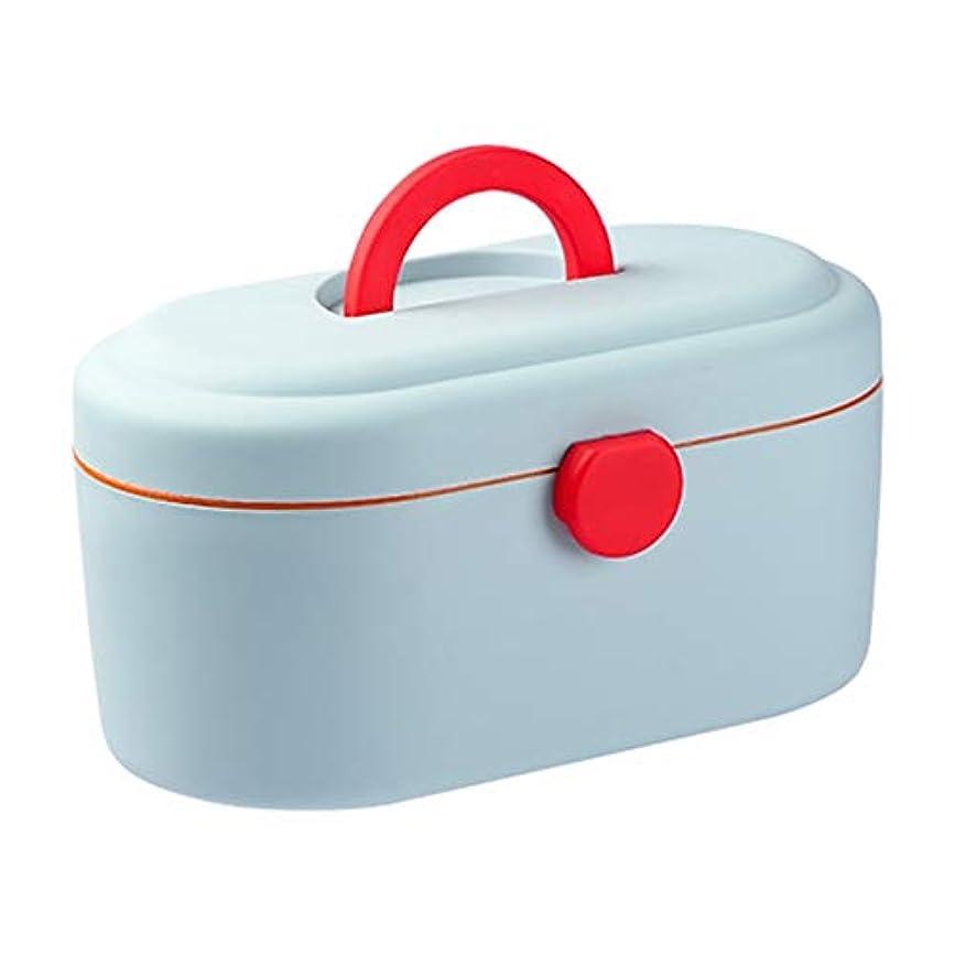 大混乱酔っ払い不運LLSDD 子供の薬箱携帯美容ボックス薬収納ボックス救急箱自宅旅行が運ぶことができます (Color : Green)