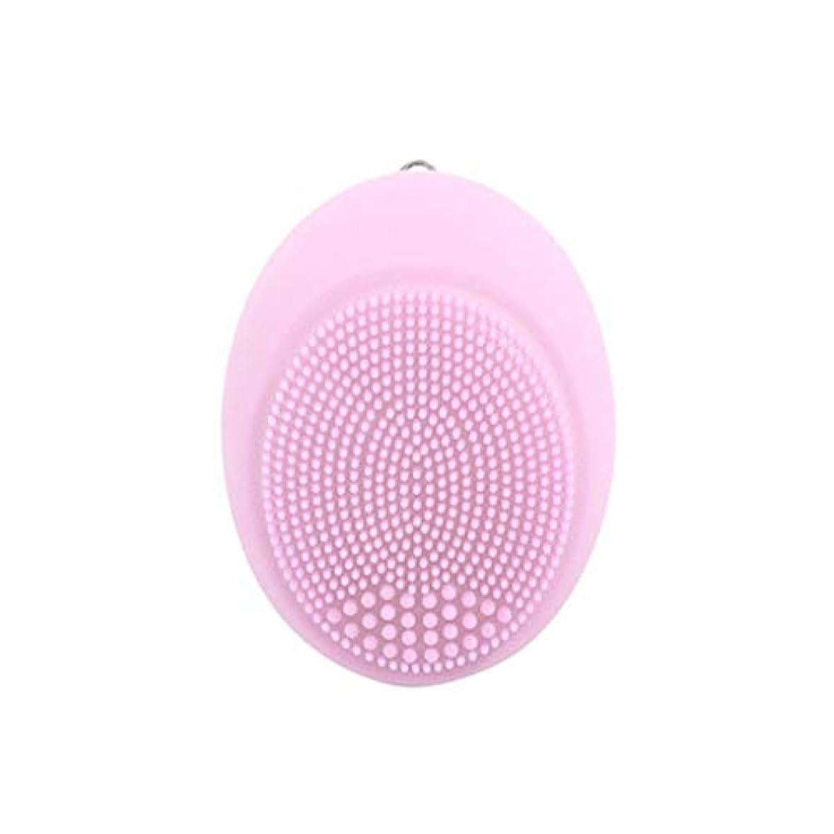 反抗放散するショッピングセンターソニックフェイシャルクレンジングブラシ、電動ビューティーマッサージブラシディープフェイシャルマッサージャーポアクリーナーディープクレンジング穏やかな角質除去が血液循環を促進 (Color : Pink)
