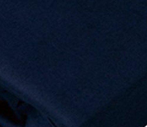 アイリスオーヤマ 布団カバー 敷布団用 綿100% シングル 105×215cm ネイビー CMS-S