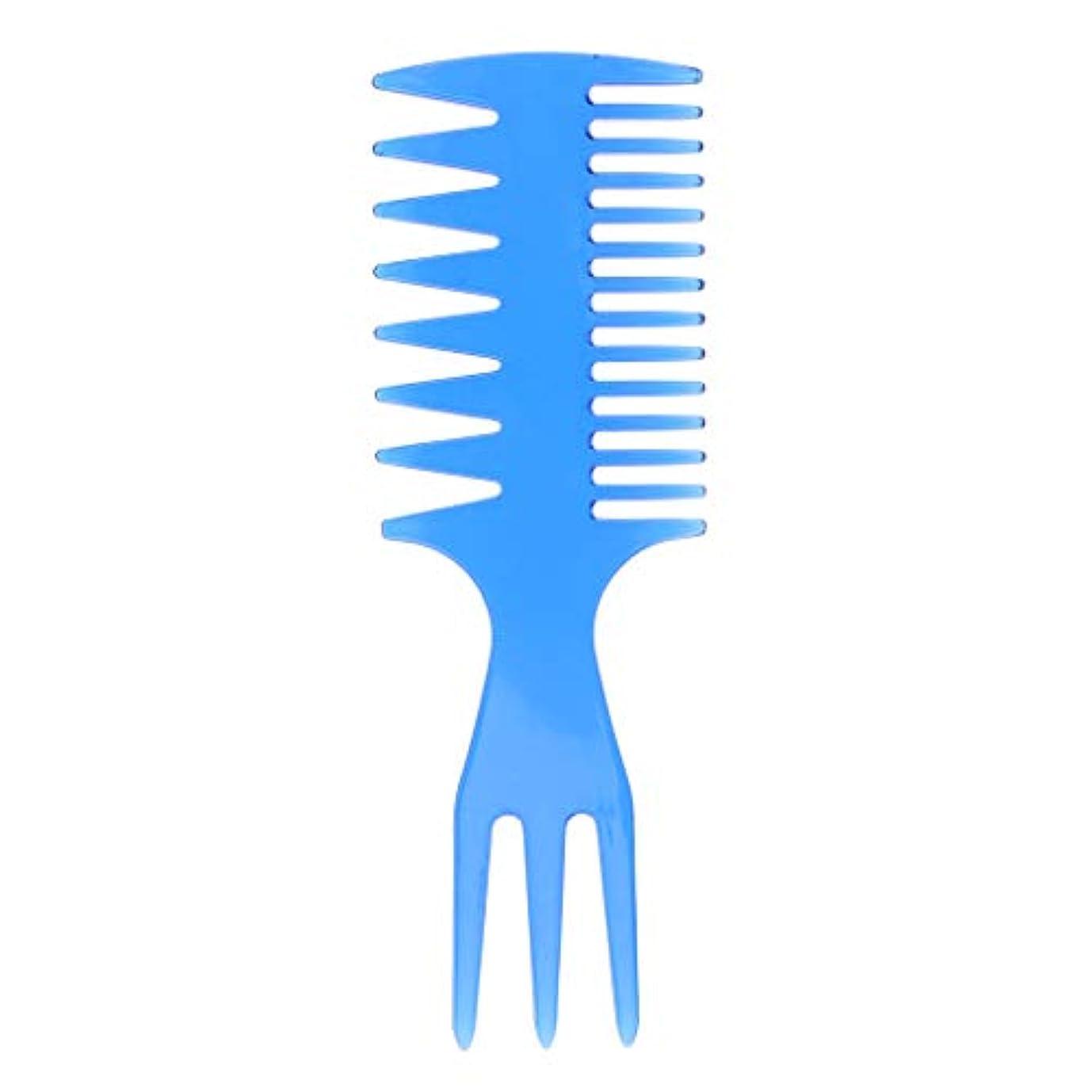 トランスペアレント神経障害ポイント1つの人の油性毛の一突きの櫛の大広間の染料の理髪のスタイリング広い歯に付き3つ