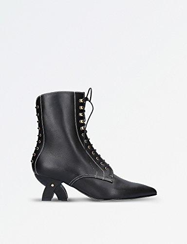 ロエベ シューズ ブーツ&レインブーツ leather ankle boots BLACK 21y [並行輸入品]