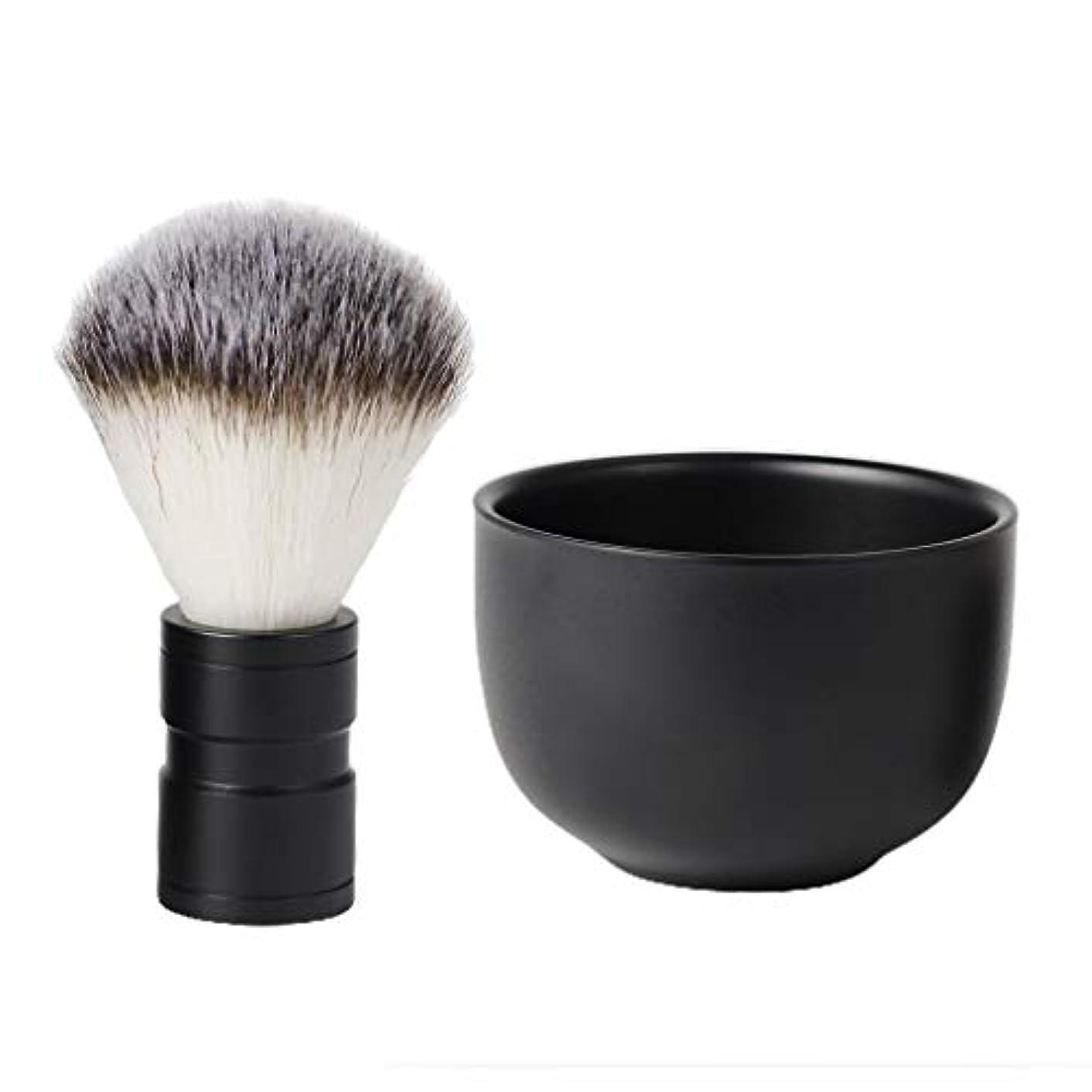 構造洗剤パトワHellery メンズ シェービングセット ひげブラシ 髭剃り シェービングブラシ シェービング石鹸ボウル