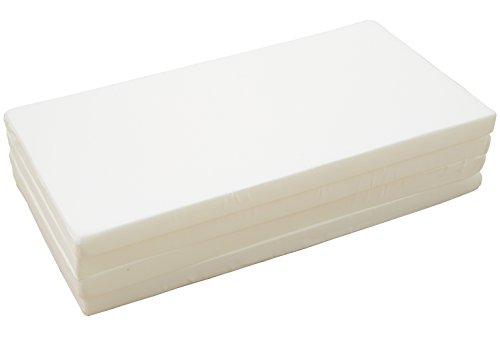 日本製 4ツ折り マットレス 高反発 厚さ 5cm シングル サイズ かため 150ニュートン ホワイト 【高反発...