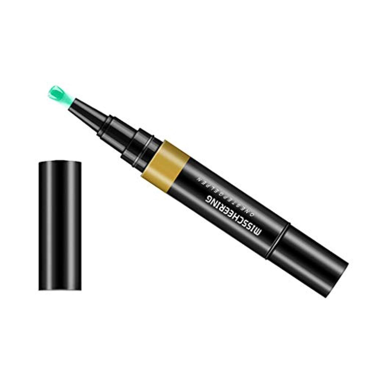 ライン雨豪華なToygogo ジェル マニキュアペン ワニスラッカー ネイルアートペン 3 イン 1 サロン 初心者 セルフネイル DIY - グリーングレー