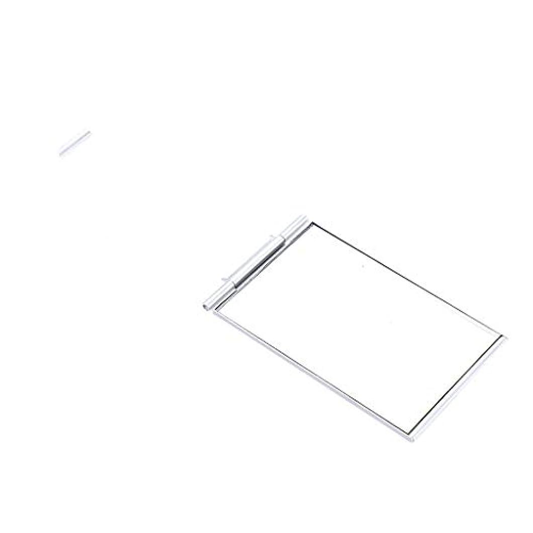 B Baosity ファッション ポケットサイズ 化粧ミラー メイクアップミラー スクエア 2サイズ選べ - 5