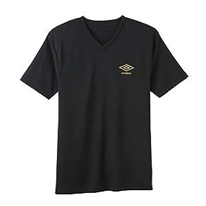 [アンブロ] Tシャツ Dry メッシュ Vネック メンズ UBS715F ブラック 日本 M (日本サイズM相当)