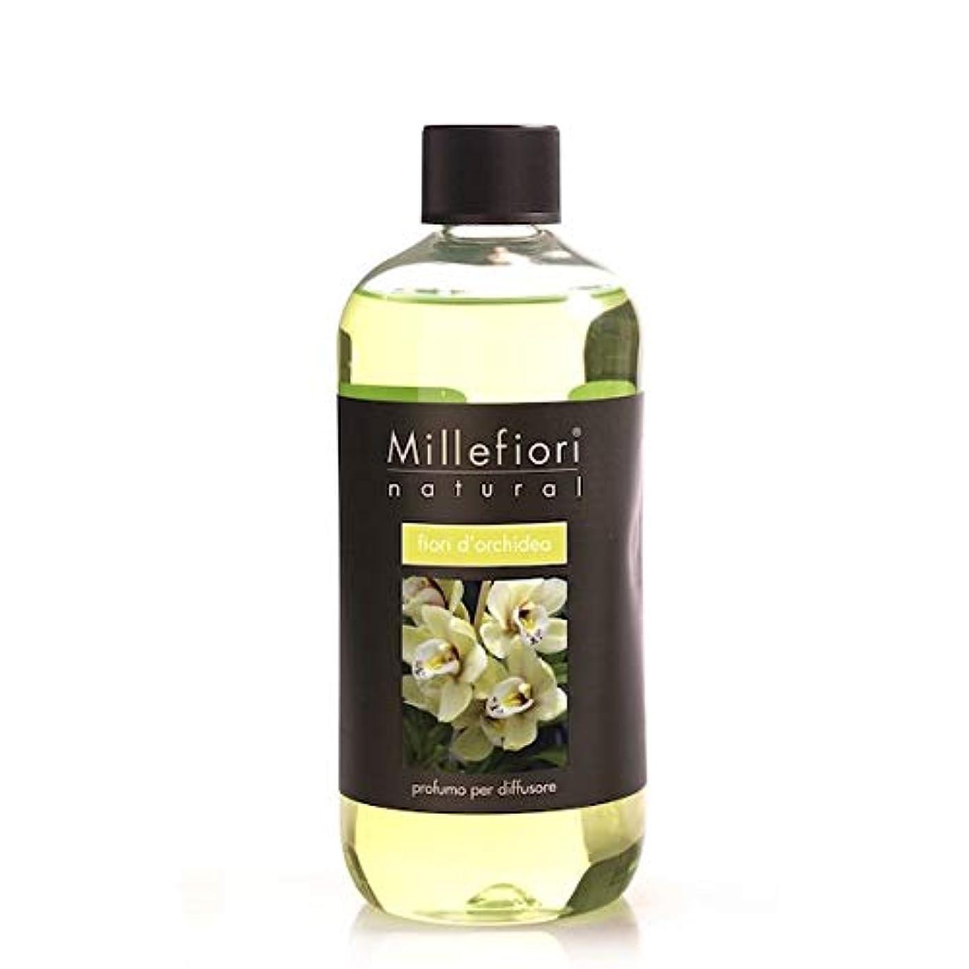 アフリカタイトル毛皮ミッレフィオーリ(Millefiori) Natural オーキッド(FIORI DI ORCHIDEA) 交換用リフィル500ml [並行輸入品]