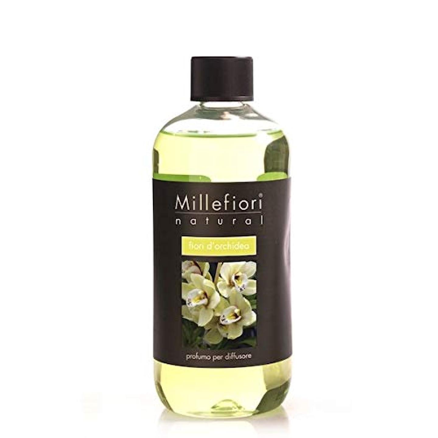 めまいが基本的な電信ミッレフィオーリ(Millefiori) Natural オーキッド(FIORI DI ORCHIDEA) 交換用リフィル500ml [並行輸入品]