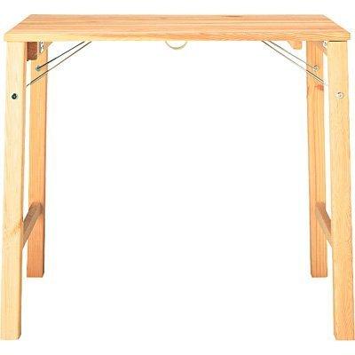 無印良品 パイン材テーブル・折りたたみ式 幅80×奥行50×高さ70cm.