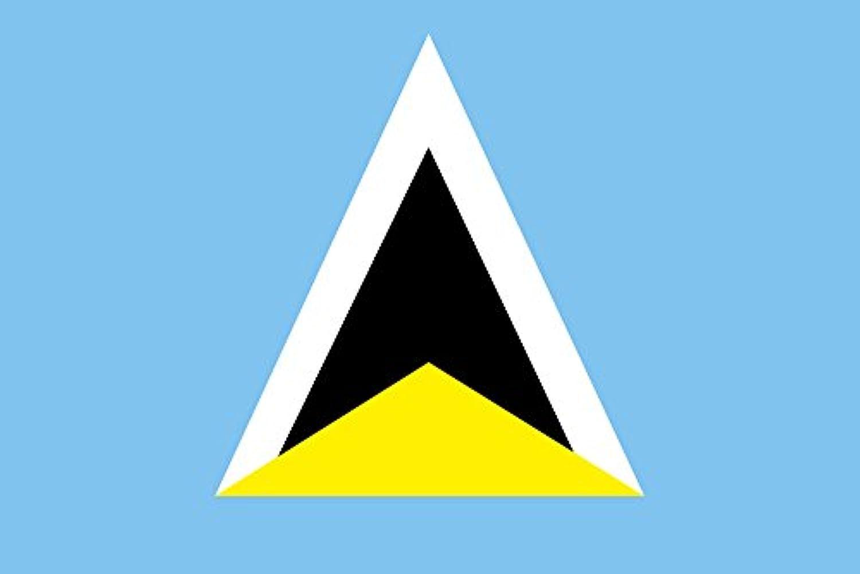 世界の国旗 セントルシア 国旗 [120×180cm 高級テトロン製]
