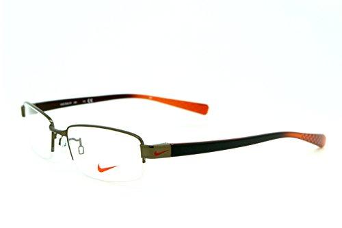 男性用 nike ナイキ パソコン用メガネ PCメガネ 8090 200 AF ブルーライトカット 紫外線カット 伊達メガネ 度無 透明レンズ アジアンフィット 加工済み 専用ケース付属
