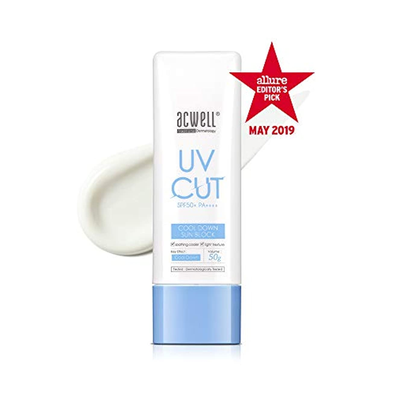 ことわざタックル悪化させるアクウェル ACWELL UV Cut Cool Down Sun Block クールダウン サンブロック 50g, SPF50+ PA++++ [Made in Korea]