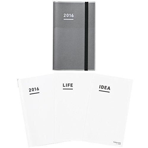 コクヨ ジブン手帳 2016年 ファーストキット 11月始まり A5スリム グレー ニ-JF1M-16の詳細を見る