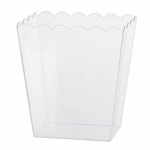 (アムスキャン) Amscan プラスチック製 ポップコーン入れ 容器 パーティー (ワンサイズ) (クリア)