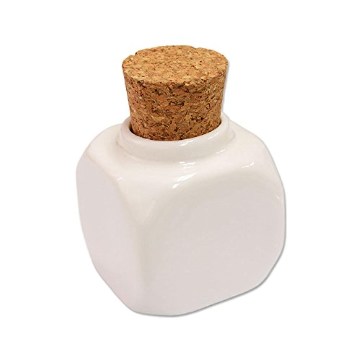 脇に有利設置コルクキャップ 陶器製ダッペンディッシュ(コルクダッペン)