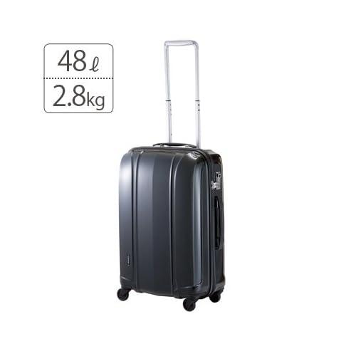 プラスワン|超軽量スーツケース|サーラス(Cirrus)ジッパーキャリー 【57cm】001-57パールブラック