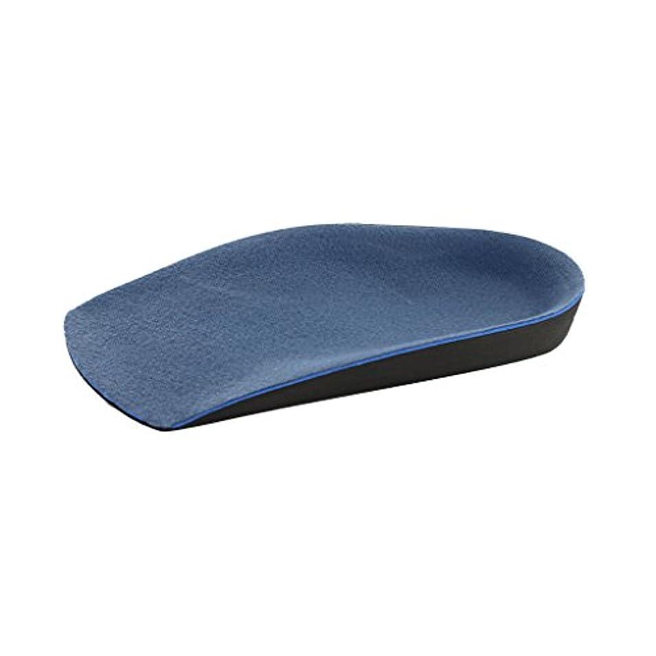 阻害する排除する【ノーブランド品】男性 補正靴のインソール O脚/ X脚矯正補正 青
