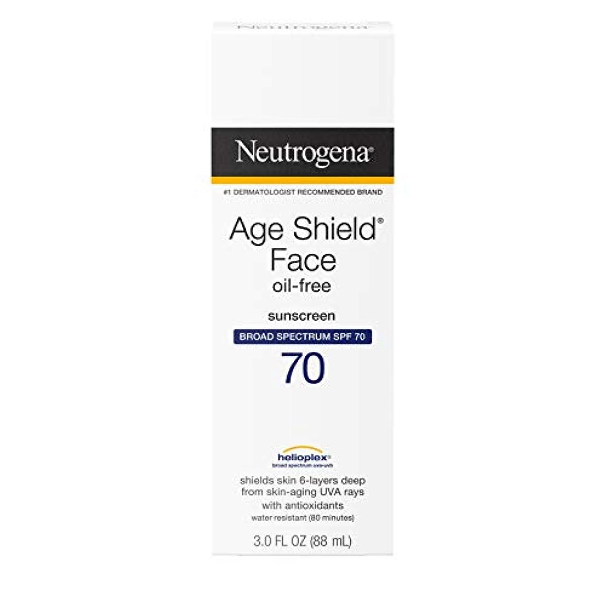 持参もちろんヒョウNeutrogena Age Shield Anti-Oxidant Face Lotion Sunscreen Broad Spectrum SPF 70, 3 Fluid Ounce