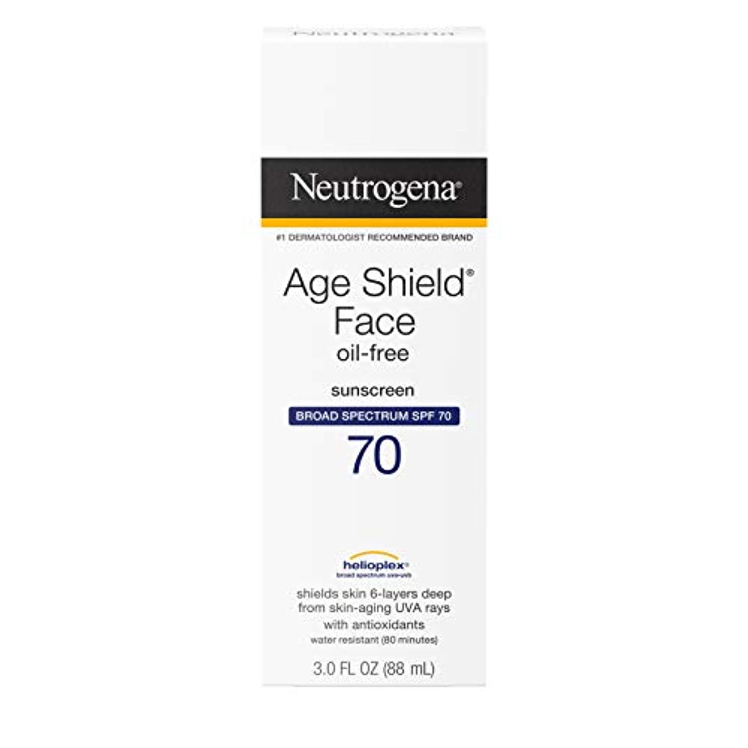 バリアアピールイースターNeutrogena Age Shield Anti-Oxidant Face Lotion Sunscreen Broad Spectrum SPF 70, 3 Fluid Ounce