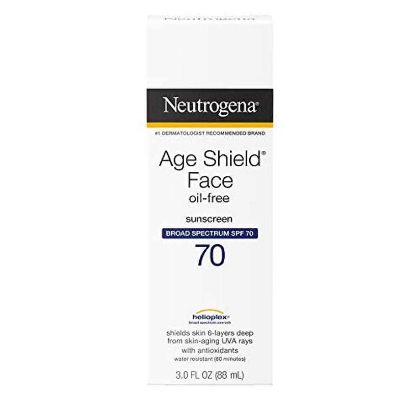 縮れた航空便タイヤNeutrogena Age Shield Anti-Oxidant Face Lotion Sunscreen Broad Spectrum SPF 70, 3 Fluid Ounce