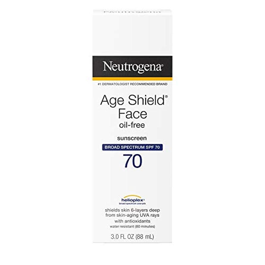 熟達オーブン不利Neutrogena Age Shield Anti-Oxidant Face Lotion Sunscreen Broad Spectrum SPF 70, 3 Fluid Ounce