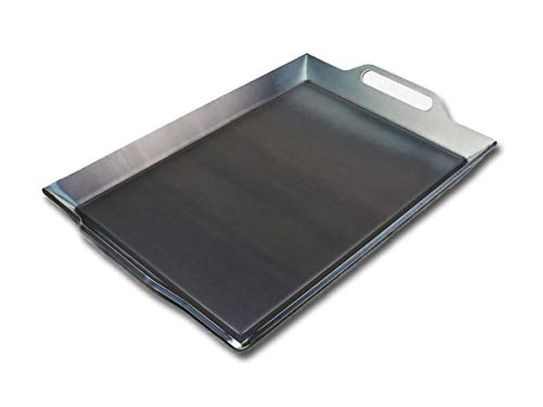 自殺海洋珍しいZEOOR(ゼオール) 極厚バーベキュー鉄板 深皿 板厚4.5mm 700mm × 450mm