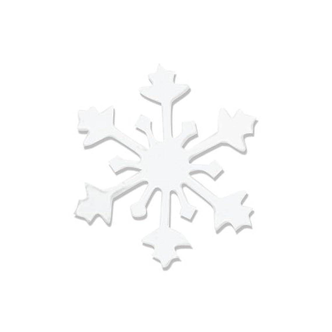 プレート虫を数えるマンモスリトルプリティー ネイルアートパーツ スノークリスタル S ホワイト 10個