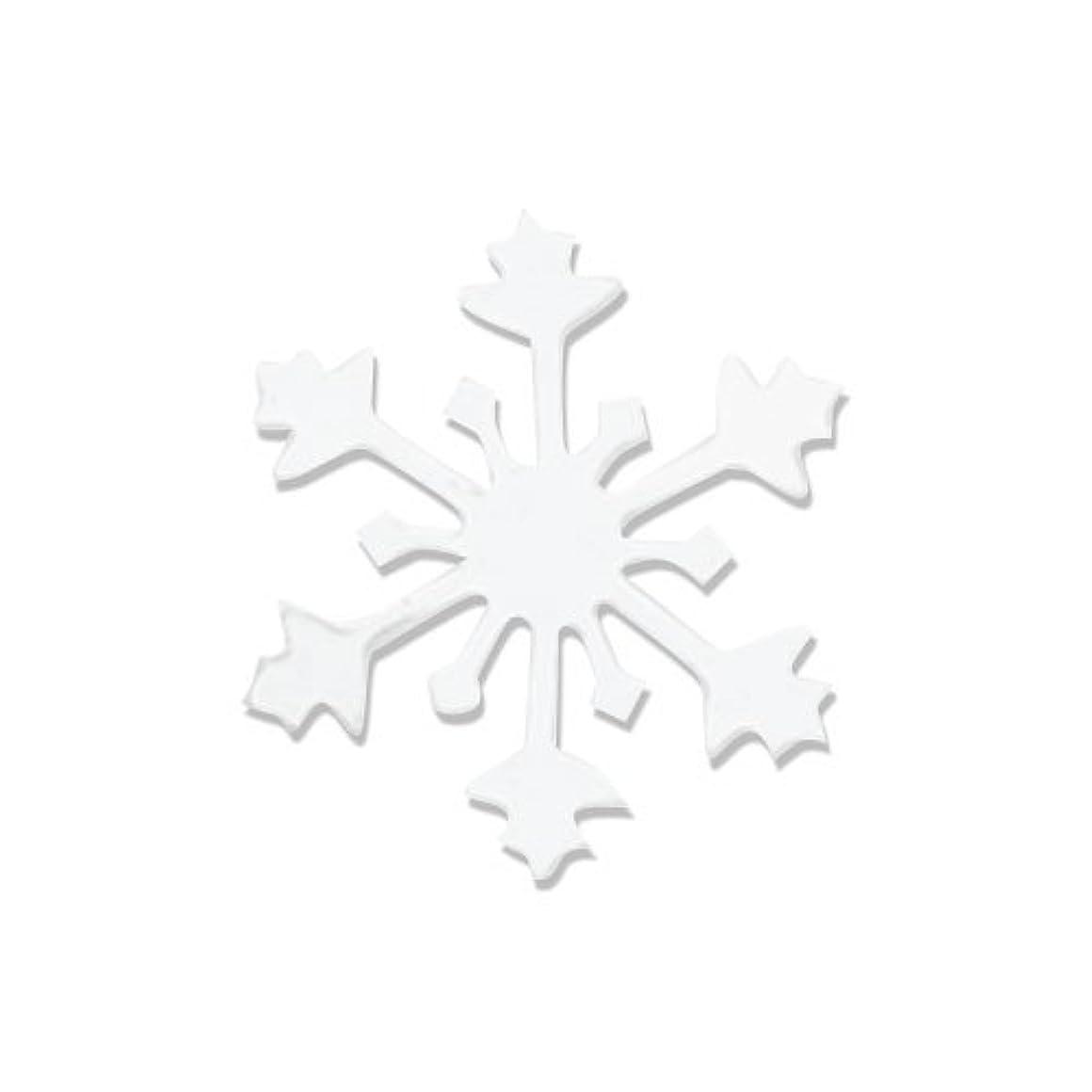 菊トランスペアレント光沢リトルプリティー ネイルアートパーツ スノークリスタル S ホワイト 10個