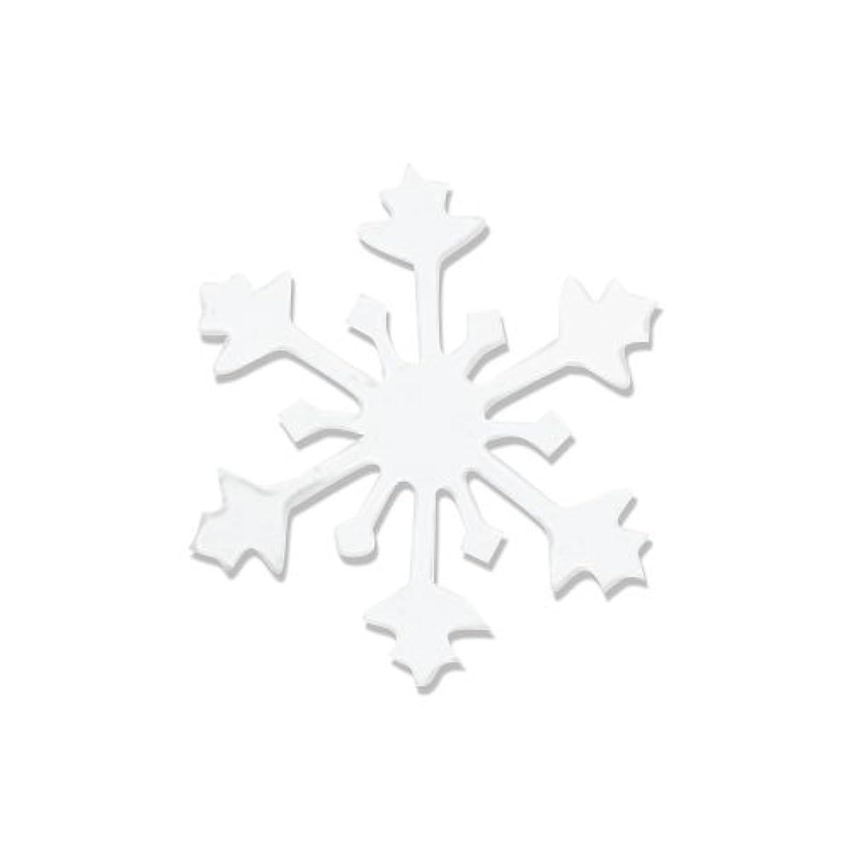浮くオール圧力リトルプリティー ネイルアートパーツ スノークリスタル S ホワイト 10個