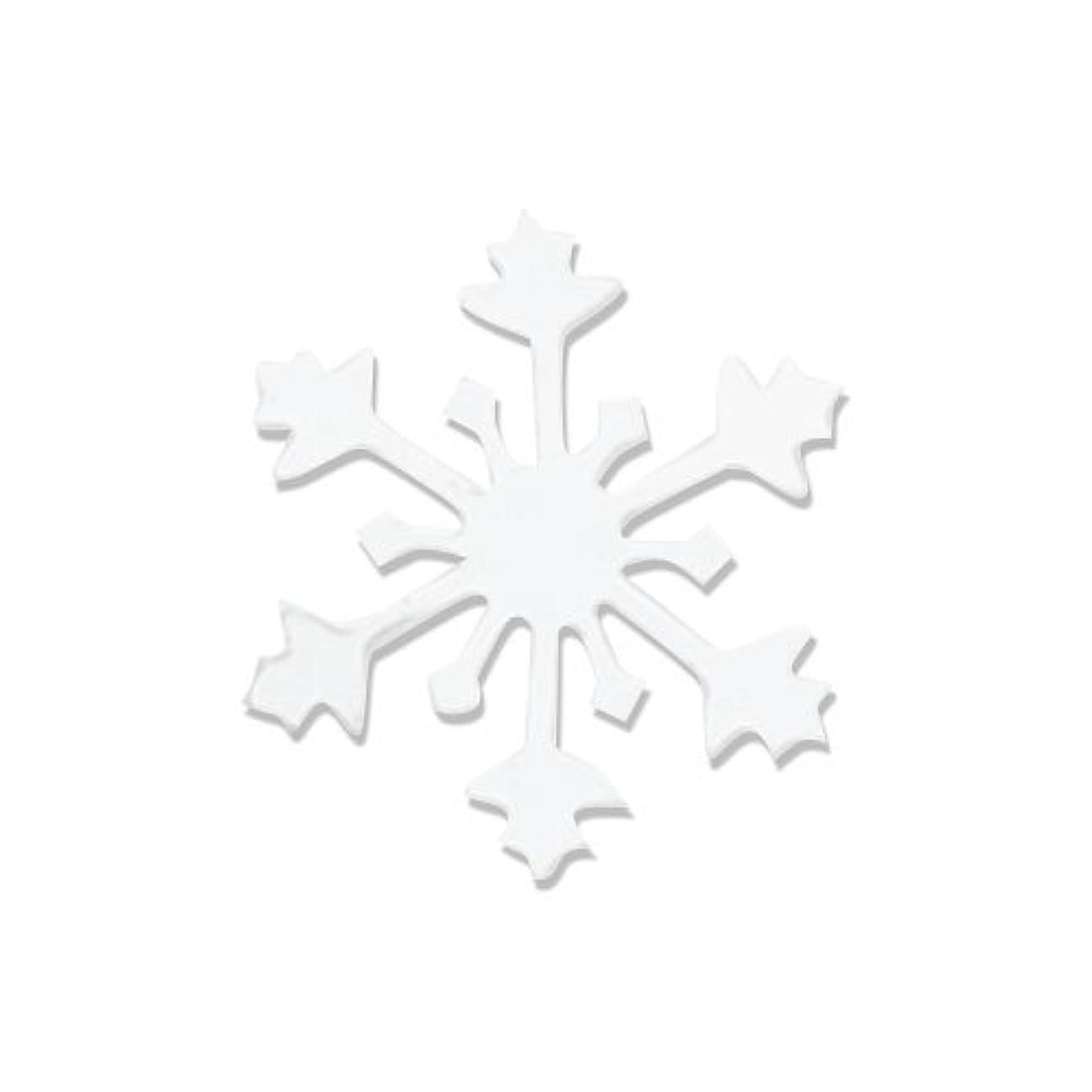 インレイ上遺跡リトルプリティー ネイルアートパーツ スノークリスタル S ホワイト 10個