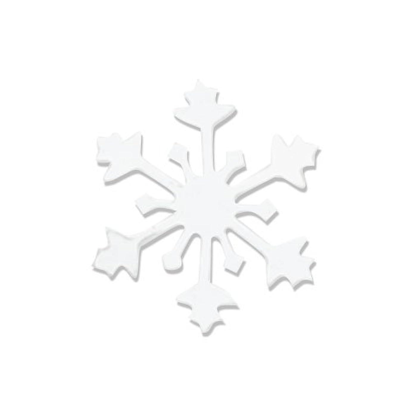 先史時代の真似るパイントリトルプリティー ネイルアートパーツ スノークリスタル S ホワイト 10個