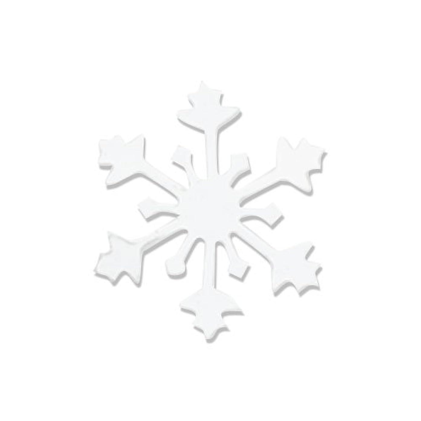 フィット所有者抑圧リトルプリティー ネイルアートパーツ スノークリスタル S ホワイト 10個