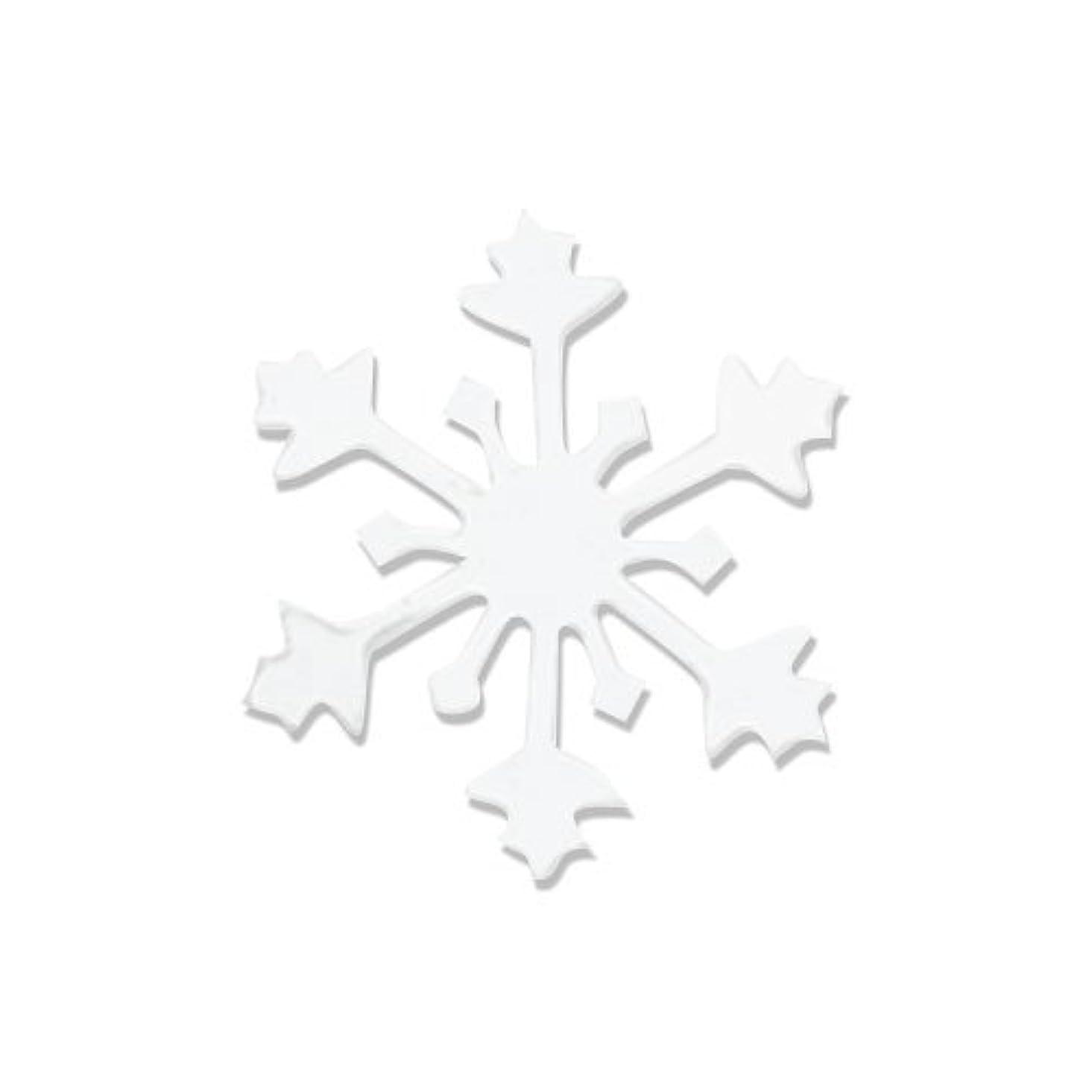 嫌がる入る肌寒いリトルプリティー ネイルアートパーツ スノークリスタル S ホワイト 10個