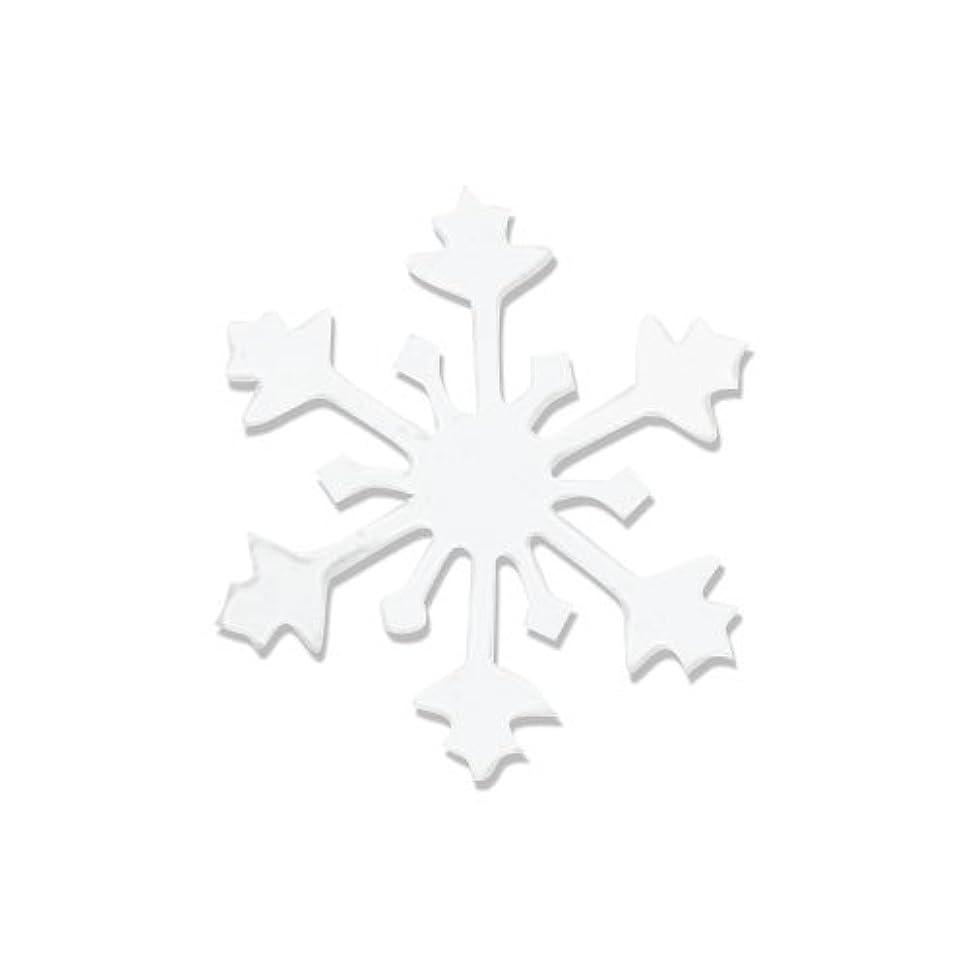 ワードローブ共産主義者良性リトルプリティー ネイルアートパーツ スノークリスタル S ホワイト 10個