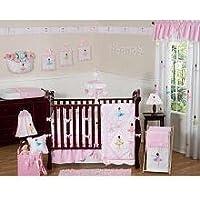 Sweet Jojo Designs 9-Piece Ballet Dancer Ballerina Pink and white Baby Girl Bedding Crib Set [並行輸入品]